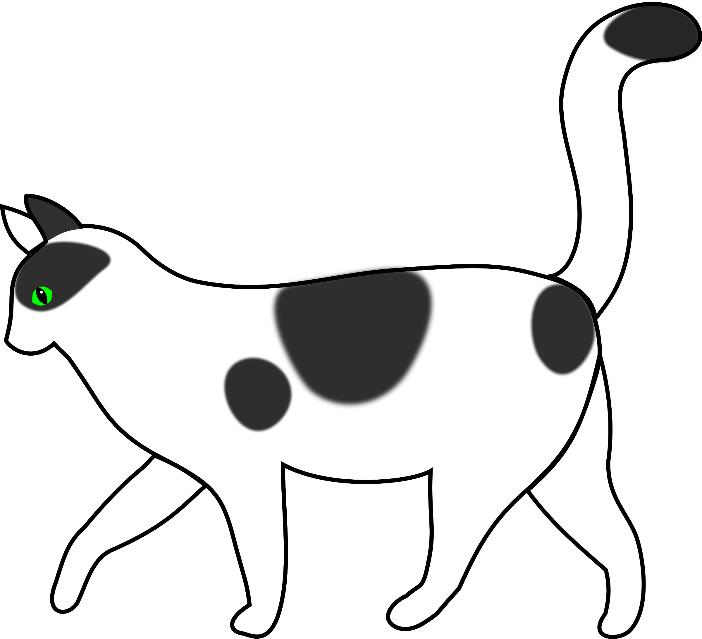 clipart free stock Cat walking clipart. White big image png