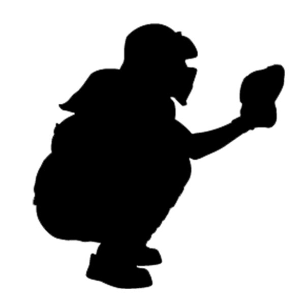 png free library Catcher clipart. Softball image clip art.