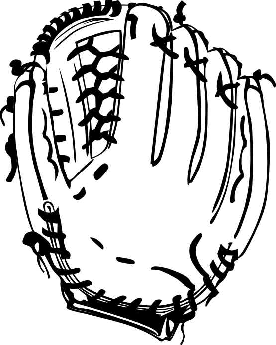 banner stock Baseball Glove Clipart Black And White