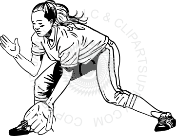 png royalty free stock Catcher clipart female softball.  collection of girls.