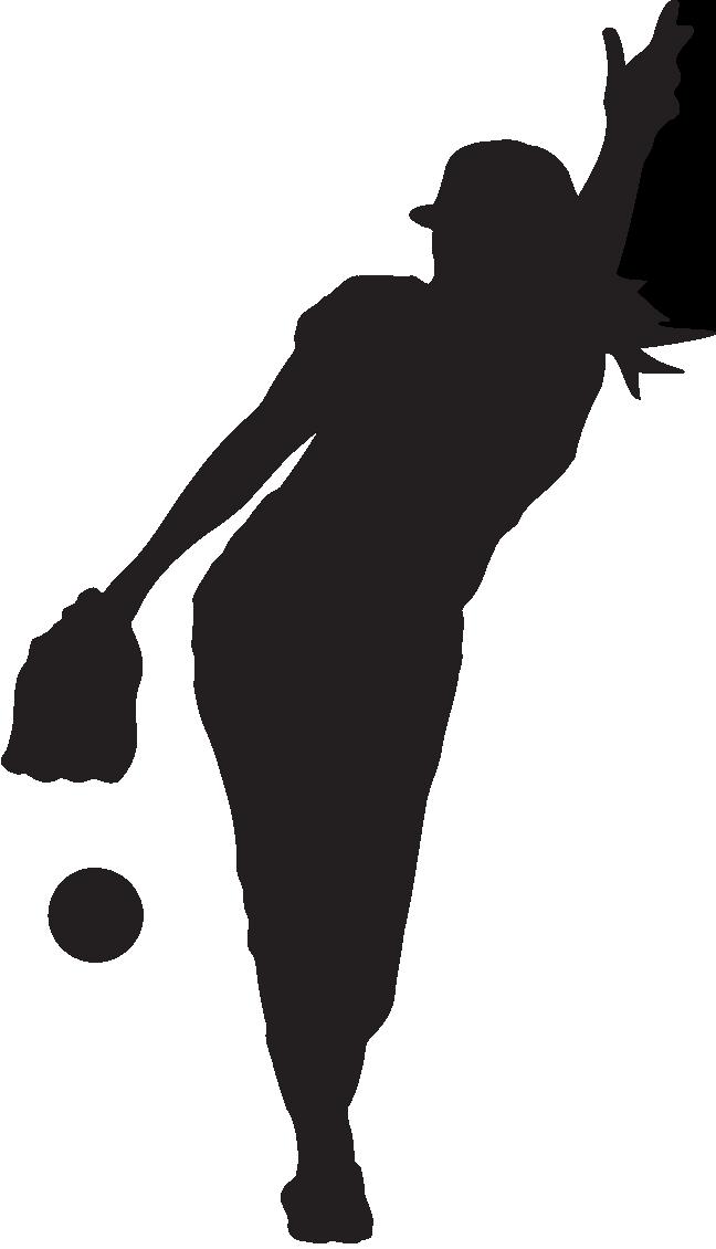 clip royalty free stock Catcher clipart female softball. Girl batter silhouette at.