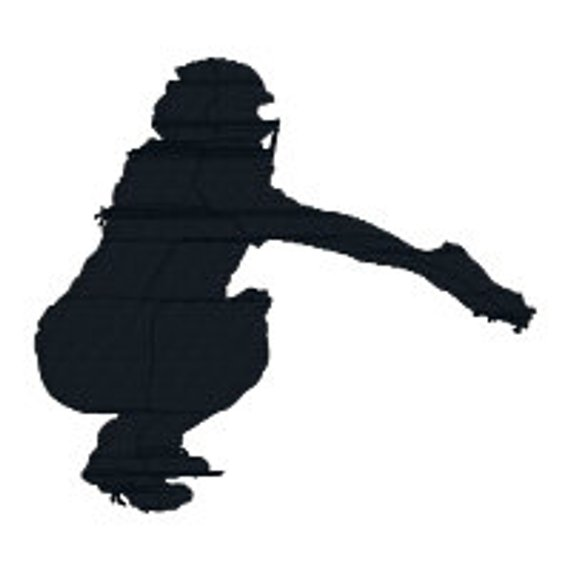 clip black and white Catcher clipart female softball. Buy get free girls.