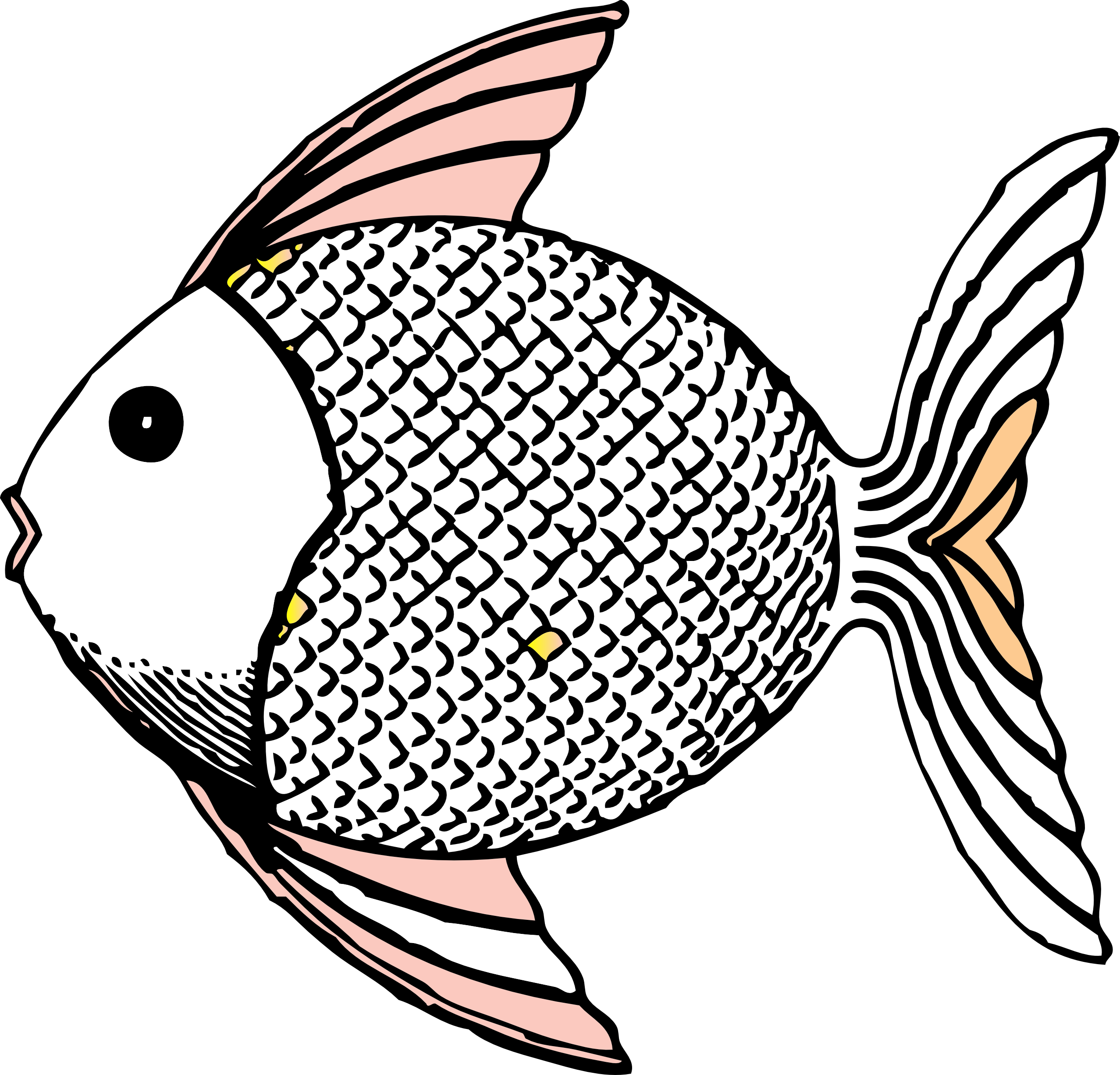 png library download Fishes drawing. Fish clip art black
