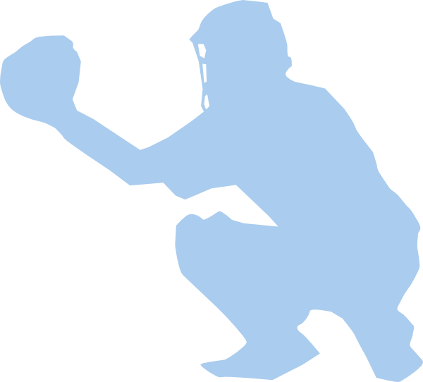 clip freeuse library Catcher clipart silhouette. Baseball clip art at.