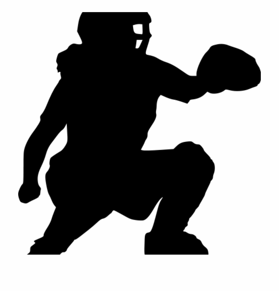 picture Catcher clipart silhouette. Softball clip .