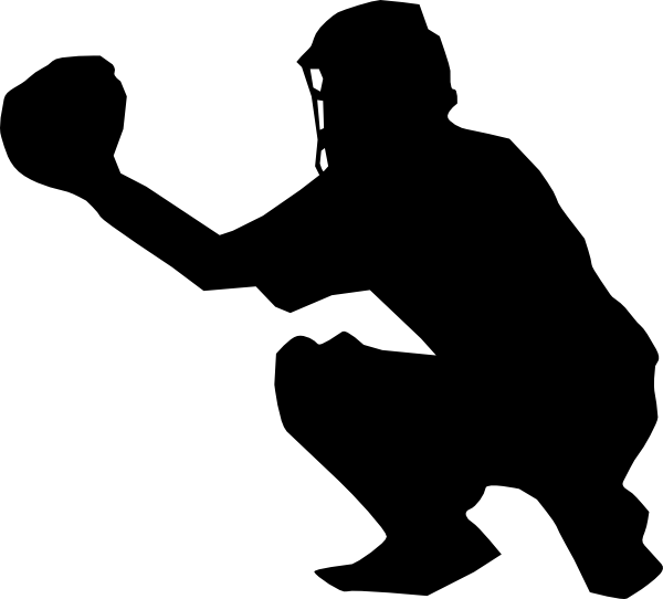 picture transparent download Softball Player Catcher Clipart
