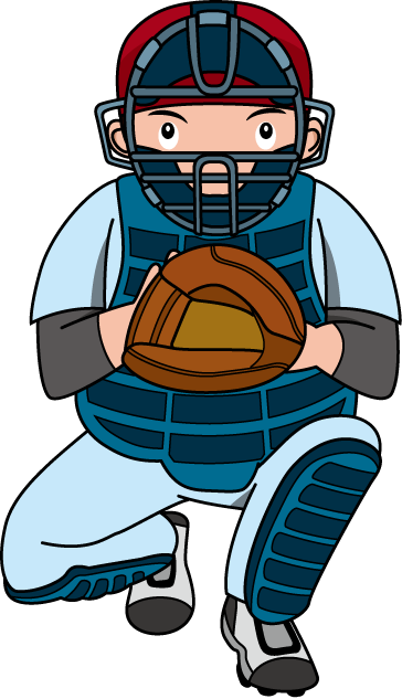 vector royalty free Catcher clipart. Baseball