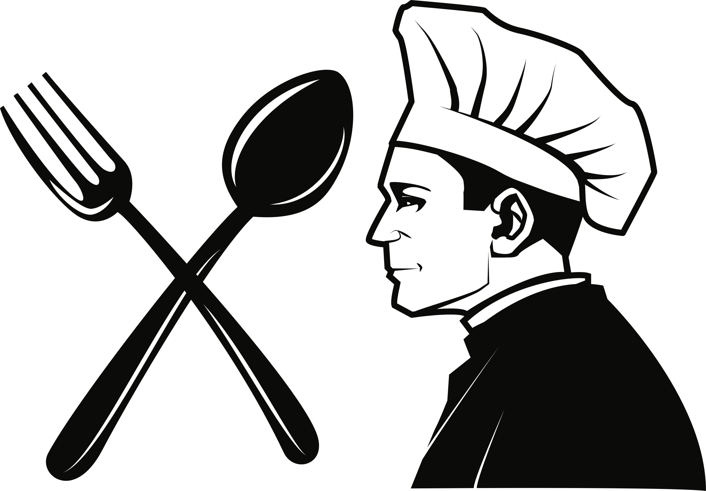 clip art royalty free download Public domain chef fork. Catering clipart