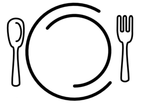 black and white download Catering clipart. Knife and fork white