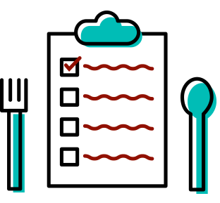 clip black and white stock Meal clipart meal plan. Event corporate catering services.