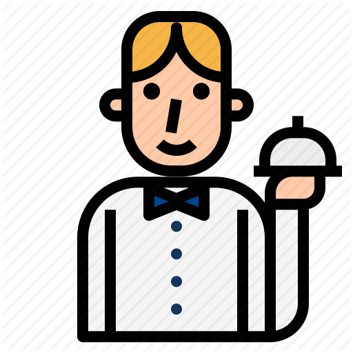 picture freeuse Catering clipart waiter. Avatar fill color style