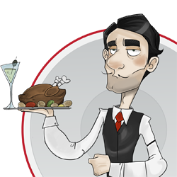 banner royalty free download From moniq by momochili. Catering clipart waiter