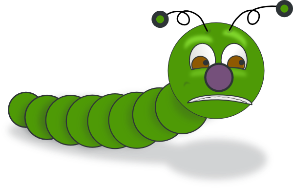 clip art black and white Caterpillar clipart. Clip art at clker.
