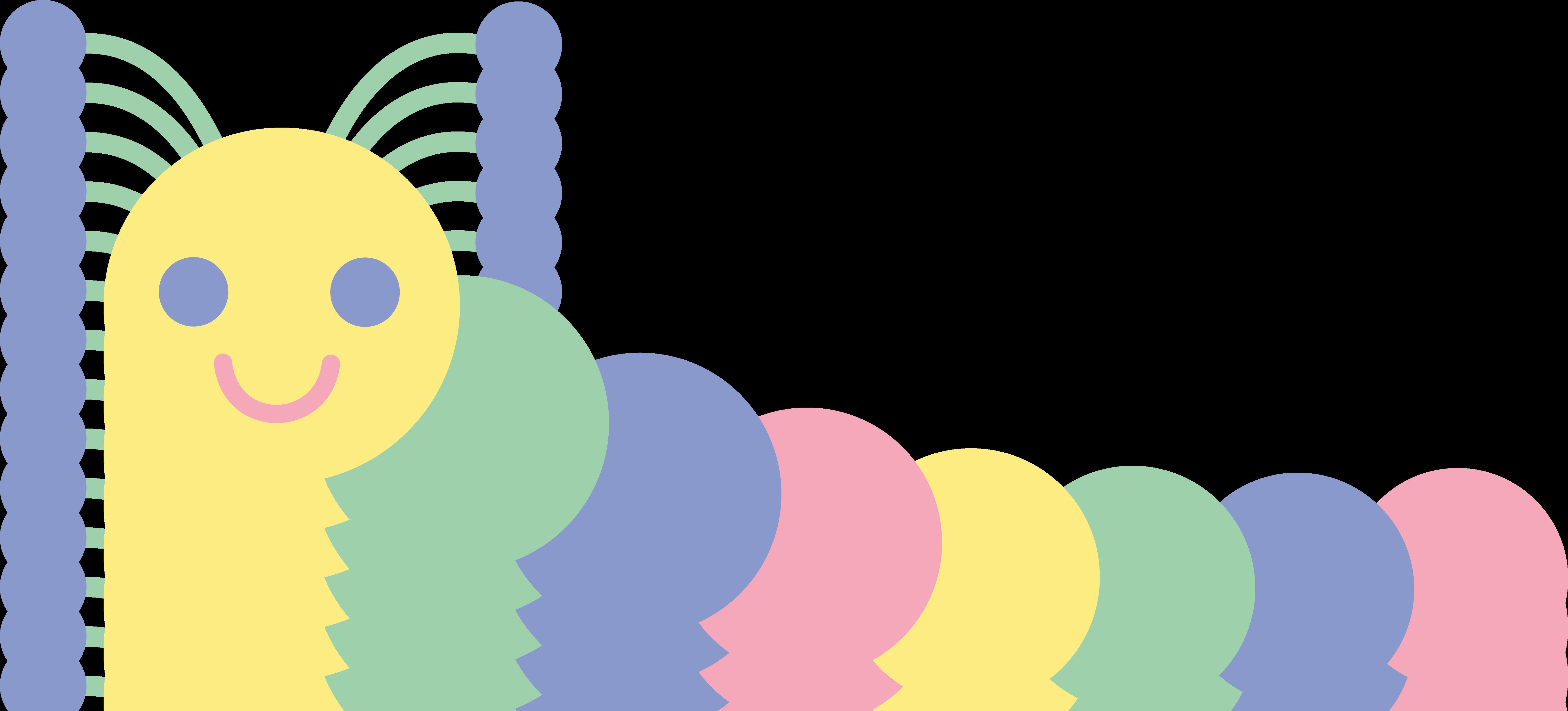 clip art download Caterpillar clipart illustration. Cute pastel free clip.