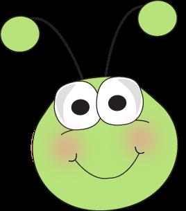 graphic stock Bug face cartoon clip. Grasshopper clipart border