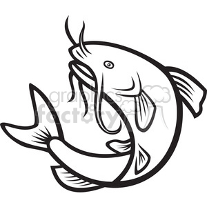 image transparent stock Black and white jump. Catfish clipart
