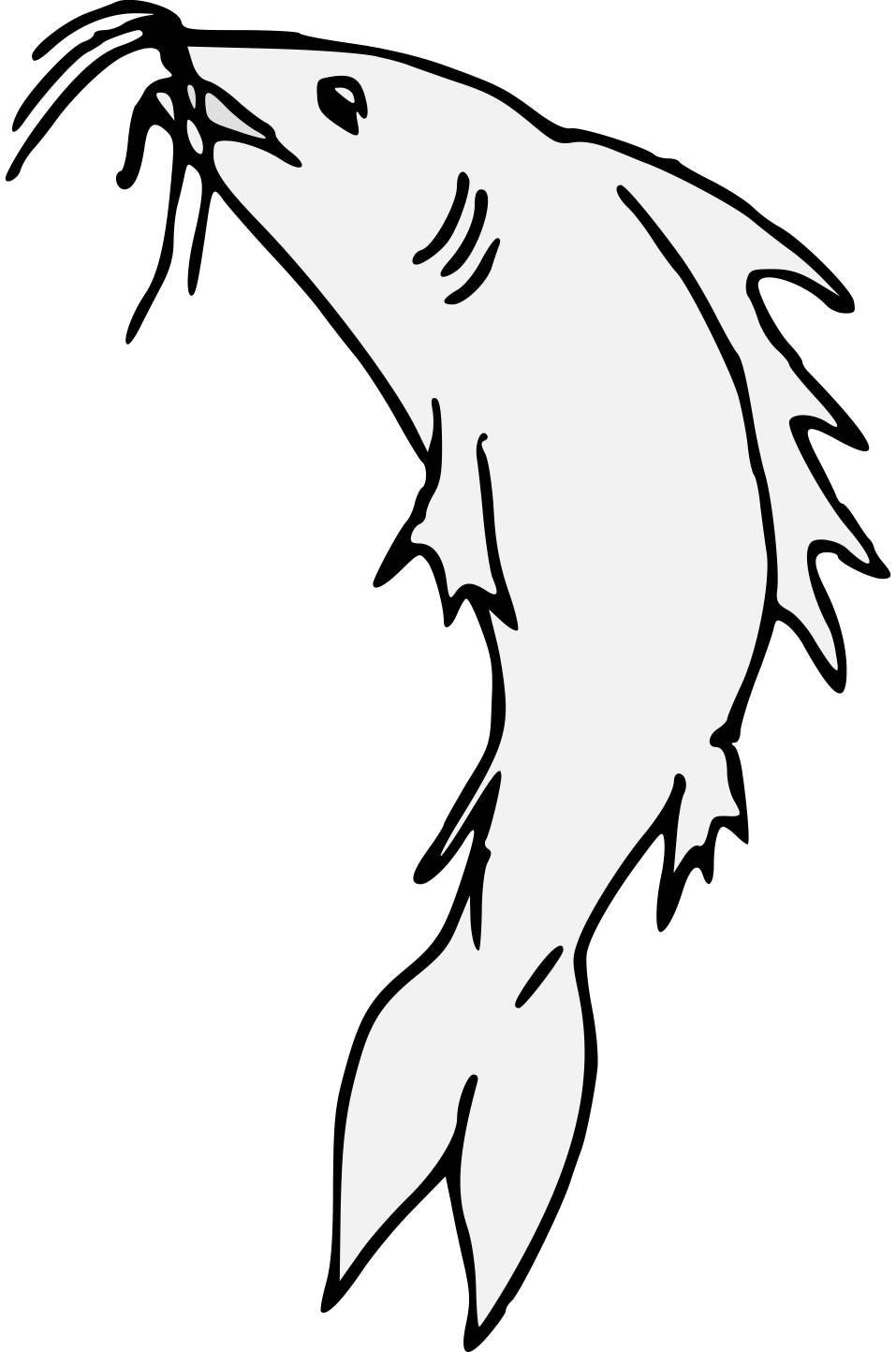 jpg black and white Catfish Line Drawing at GetDrawings