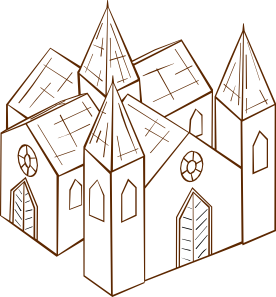 graphic free download Cathedral Clip Art at Clker