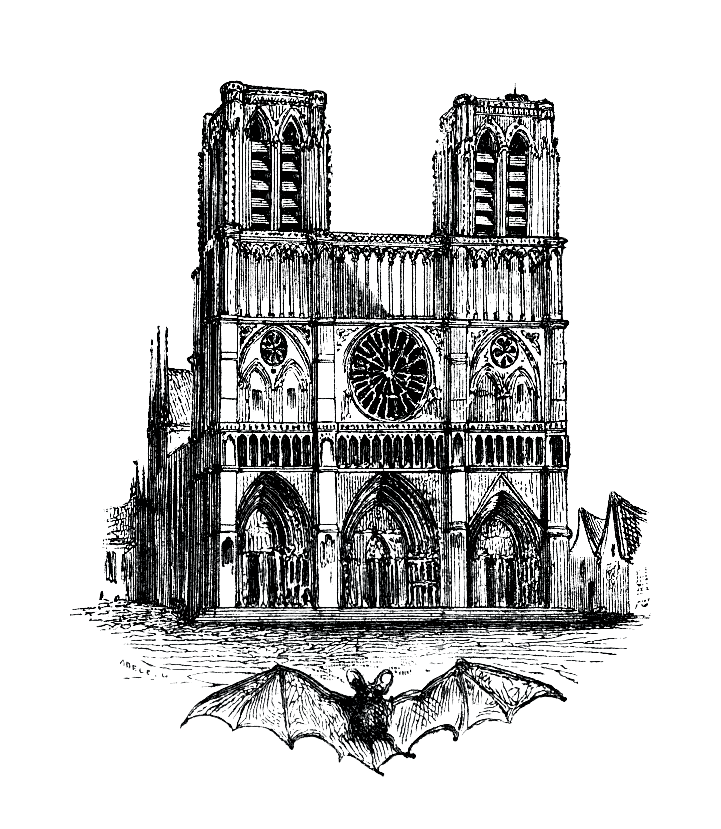 vector library download Notre Dame de Paris