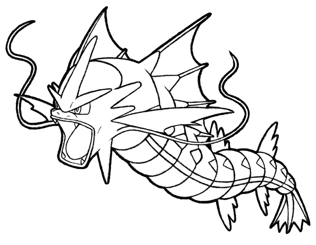 clip transparent gyarados drawing easy #113388227