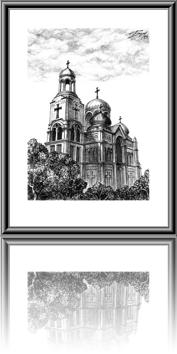 image black and white stock The Cathedral