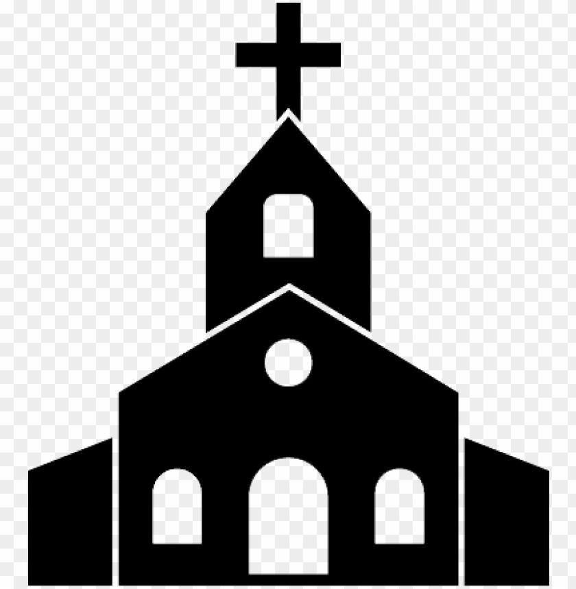 banner royalty free library Catholic clipart catholic church. Icon black and white.