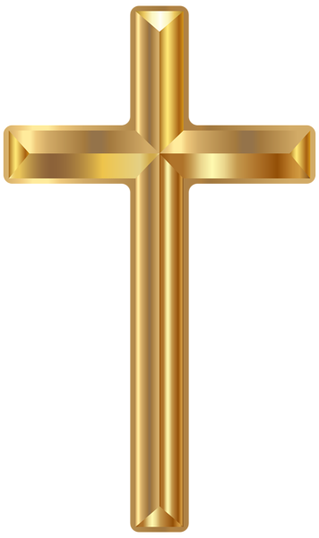 clipart freeuse stock Crucifix clipart wooden cross. Gold png transparent clip