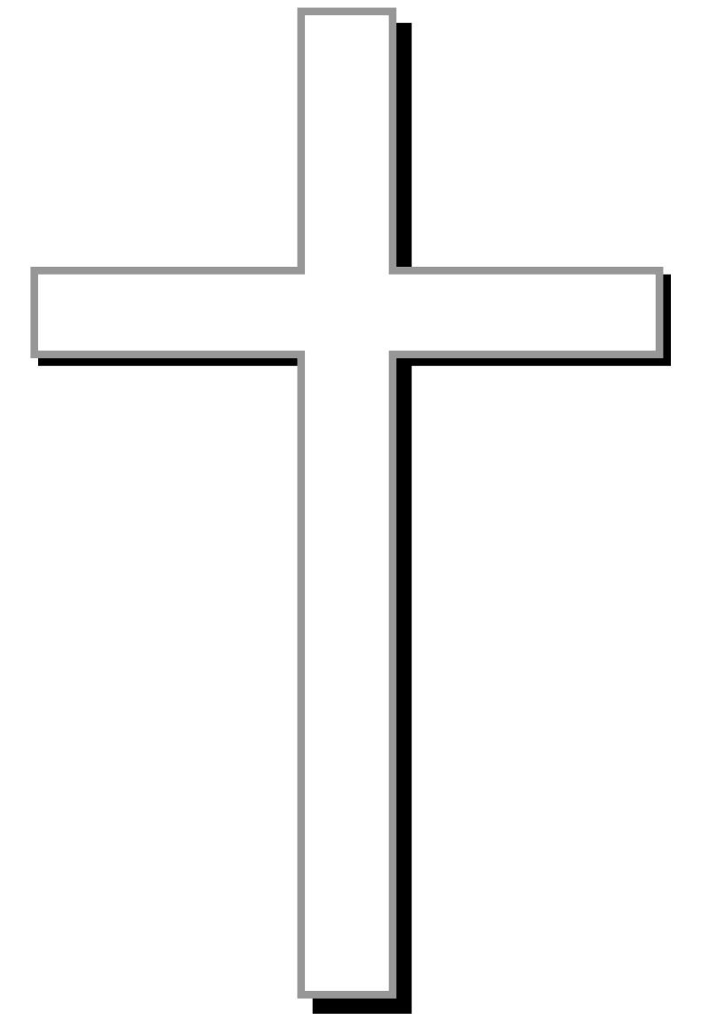 clip library Religious clipart black and white. Cross w gray outline