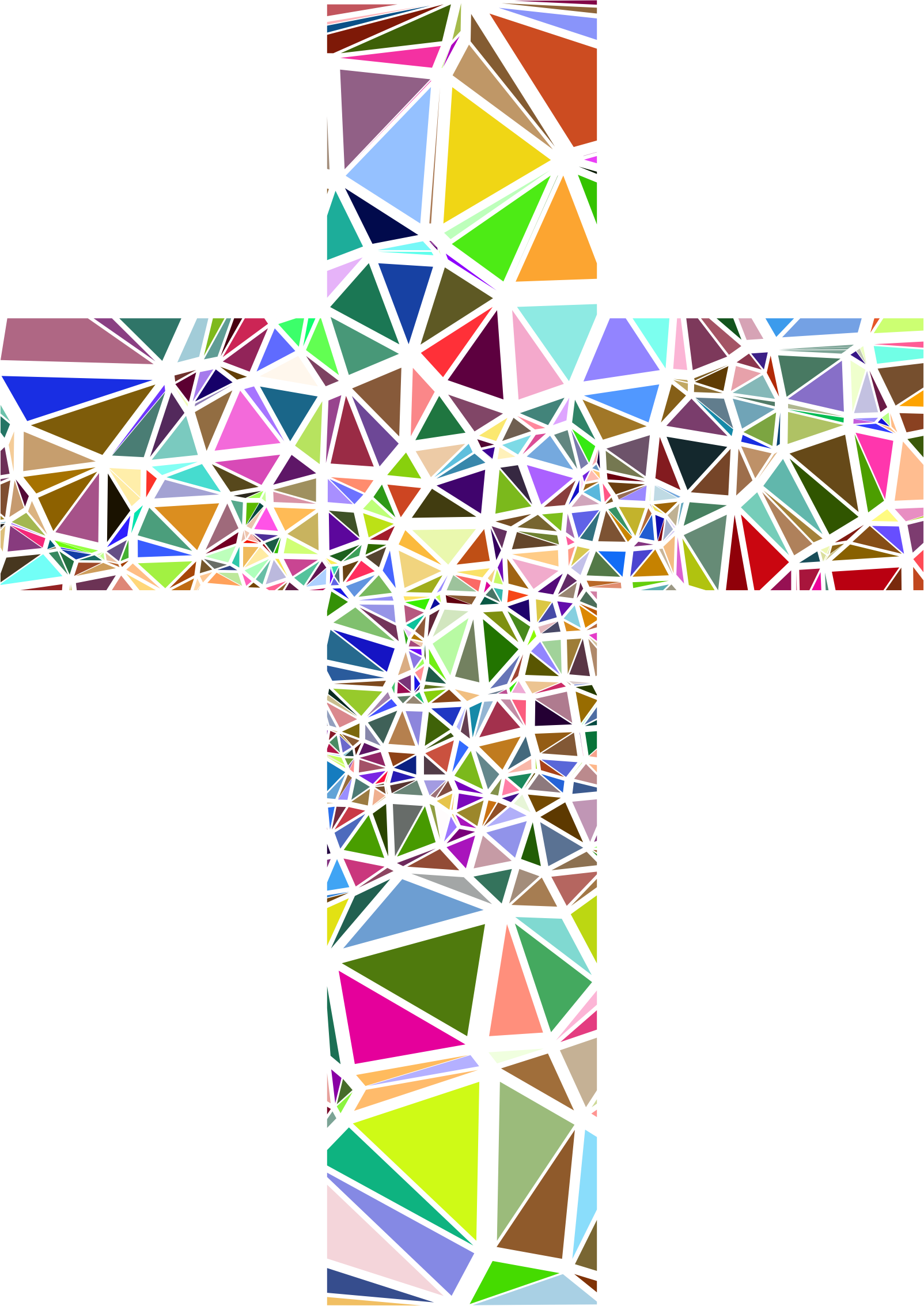 png royalty free Low poly cross big. Catholic clipart stained glass.