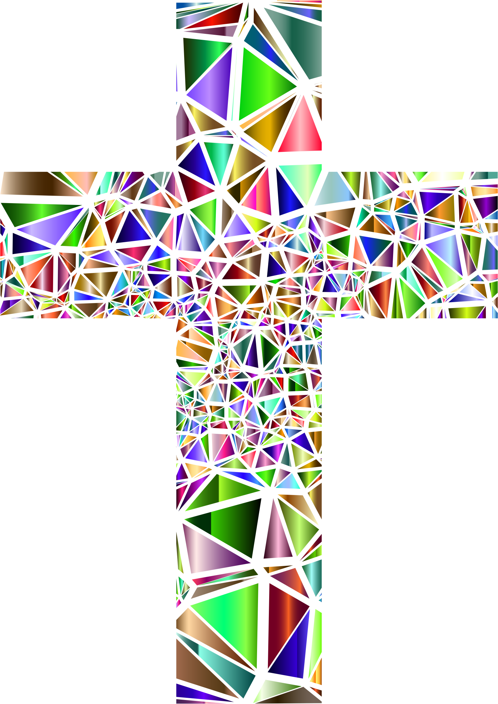 clip Low poly cross no. Catholic clipart stained glass.