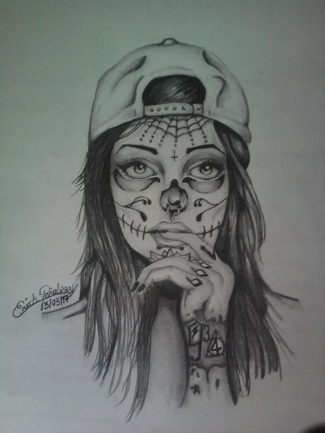 picture free stock Catrina drawing. And poison ivy steemit