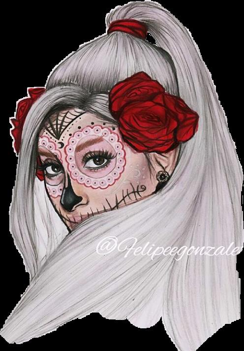 clip art Arianagrandemexico felipegonzalez draw report. Catrina drawing