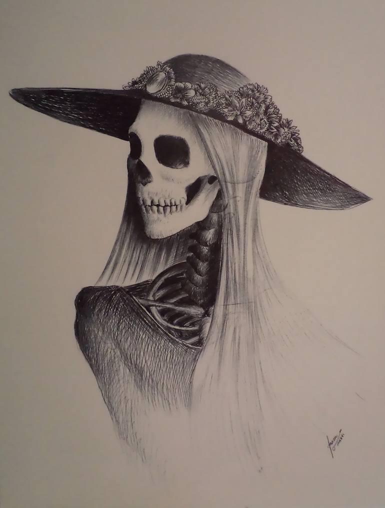 download Catrina drawing. Minimal