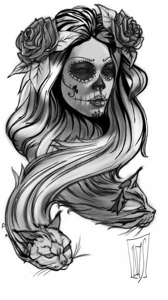 clipart black and white download Pin on Dia de los Muertos