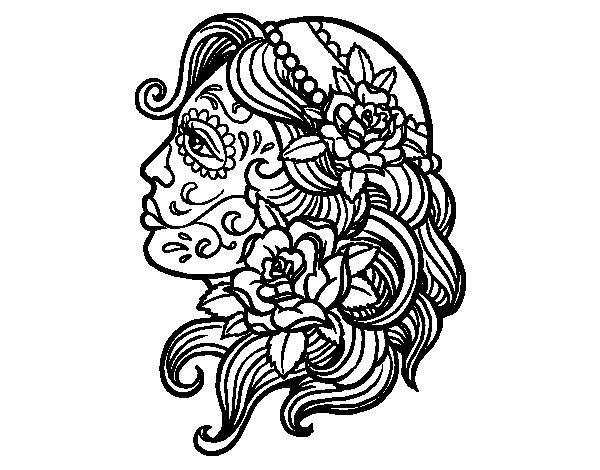 image free La Calavera Catrina Drawing Coloring book Mandala