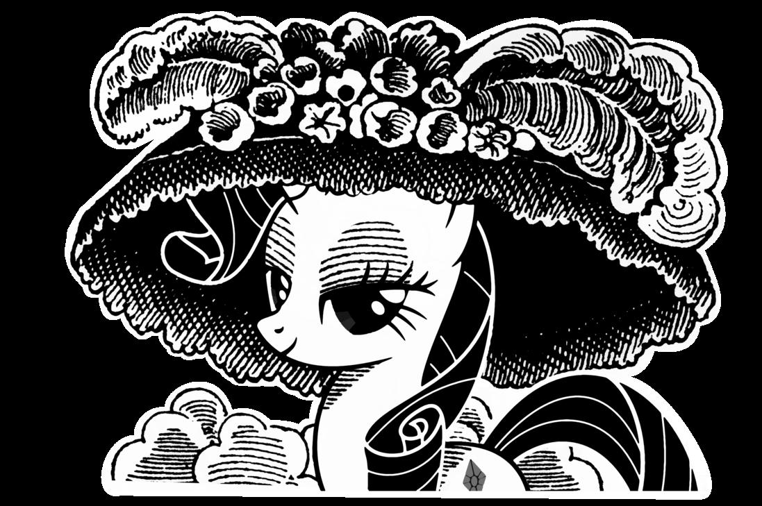 clip black and white library Rarity la Catrina by tamalesyatole on DeviantArt