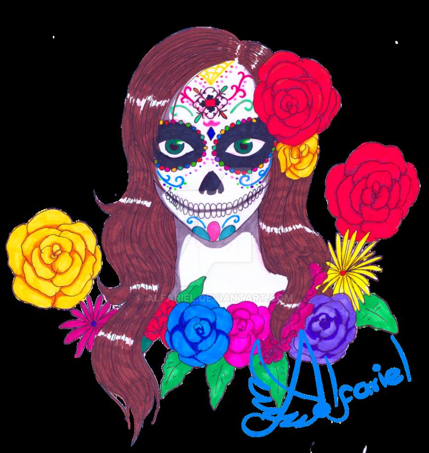 graphic free download Sugar Skull Catrina by Alfariel on DeviantArt