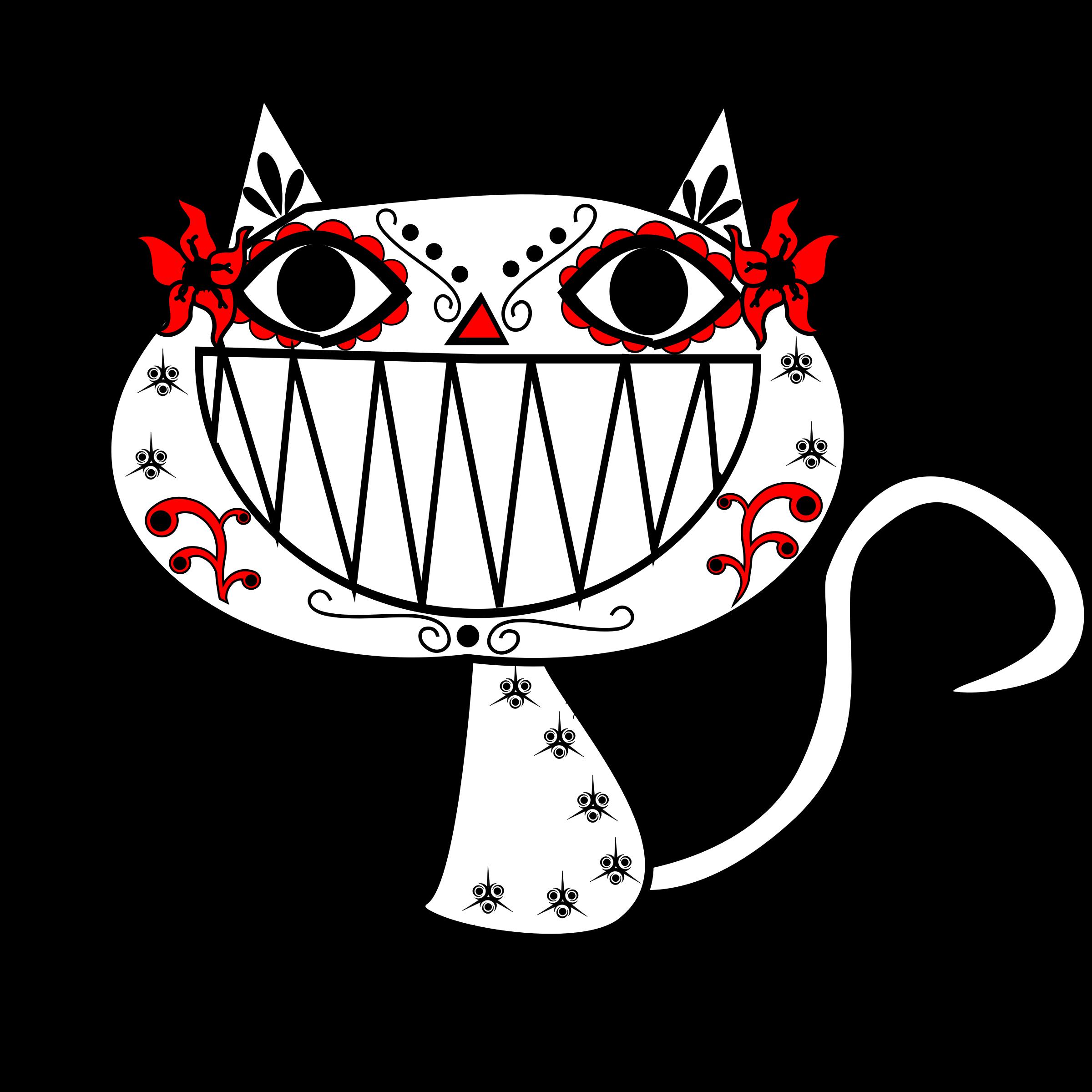 black and white catrina
