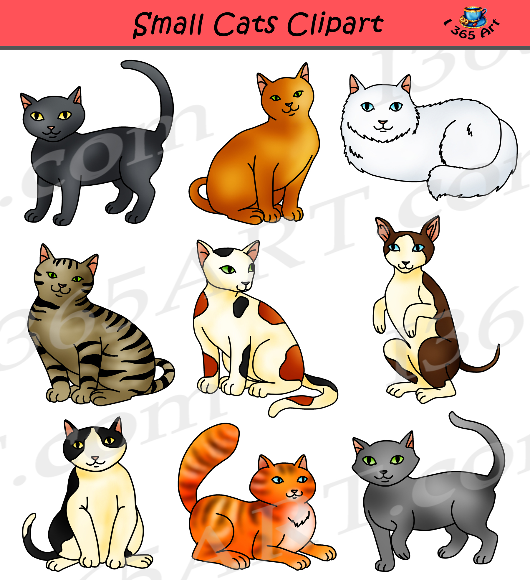 picture free stock Small feline graphics . Cats clipart.