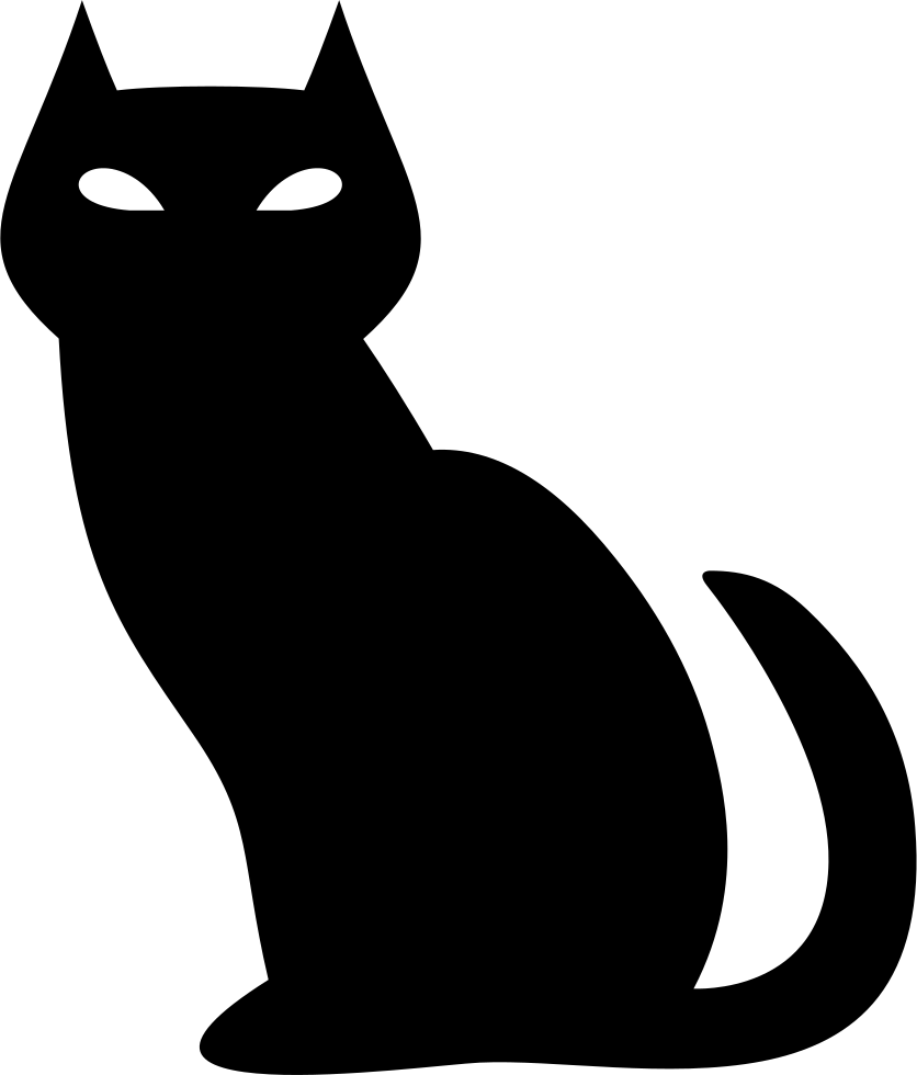 vector royalty free download Black evil cat svg. Cats clipart icon.