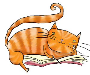 png black and white download Cats clipart nerdy. Cat s books romance.