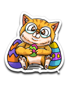 clip free library Cats clipart nerdy. Easter kucicat nedi the.