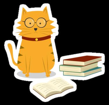 clip transparent download Cat sticker cartoon being. Cats clipart nerdy.