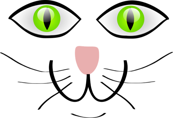 graphic library Free. Cat face clipart black and white