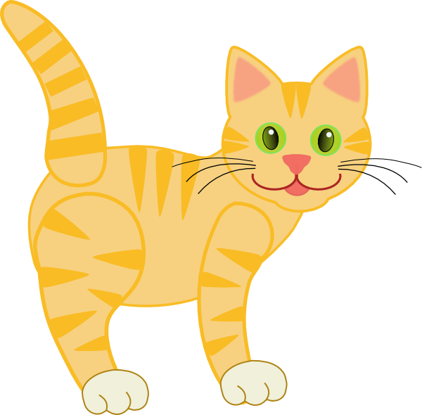vector royalty free Cat yellow free on. Cats clipart tabby.
