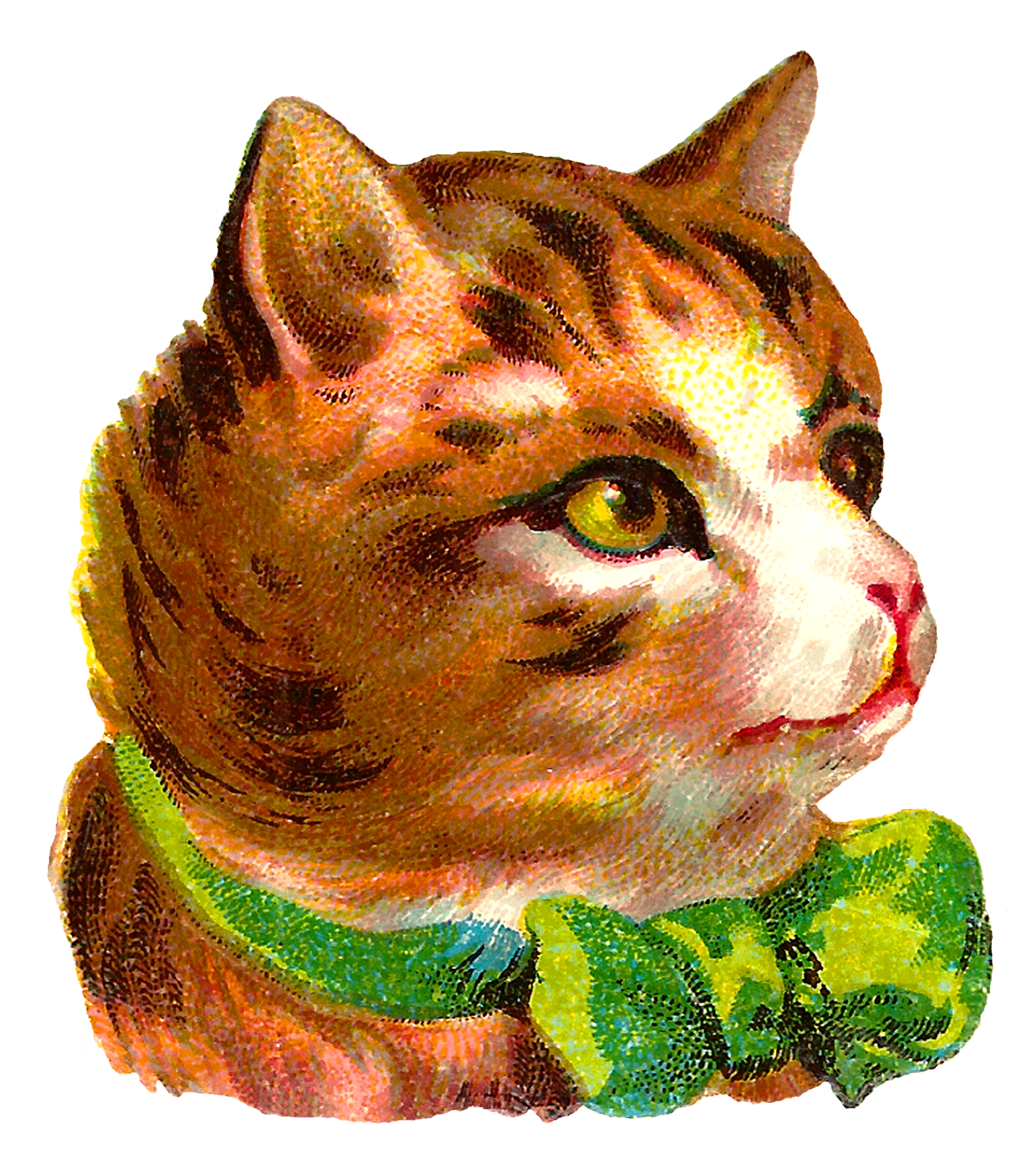vector transparent library Antique images victorian free. Cats clipart tabby.