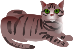 jpg freeuse library Cat clip art at. Cats clipart tabby.