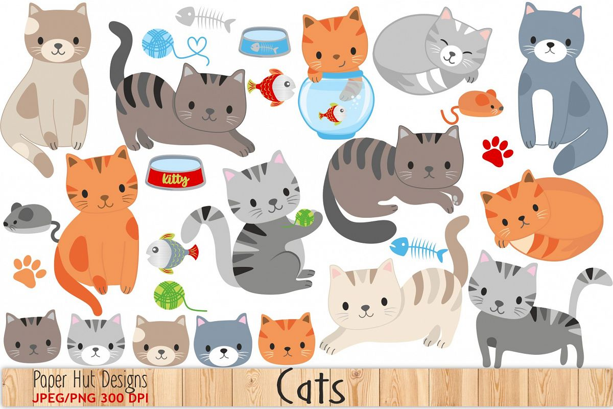 clip royalty free download Cute cat . Cats clipart.