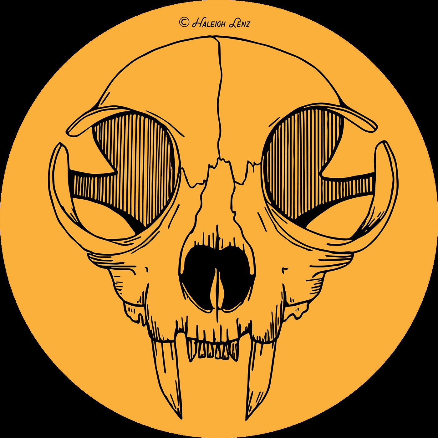 jpg royalty free stock Cat skull illustration on. Vector careers concept