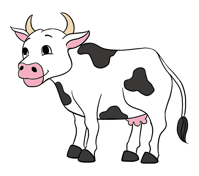 png royalty free How to Draw a Cartoon Cow in a Few Easy Steps
